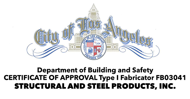 City of Los Angeles Fabrication Approval FB03041