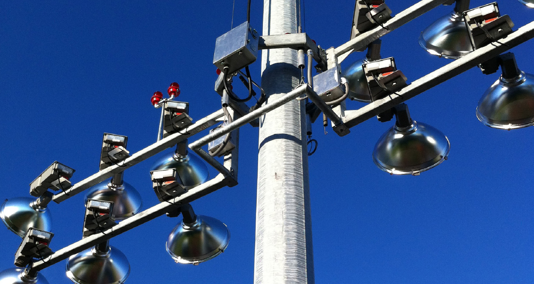 sports-lighting-roadside-high mast poles -lowering-devices-fabrication
