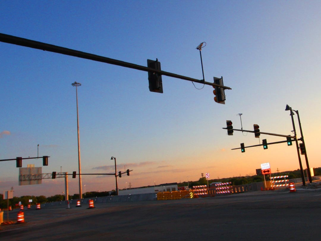 Traffic Signal Intersection Support Structures Poles