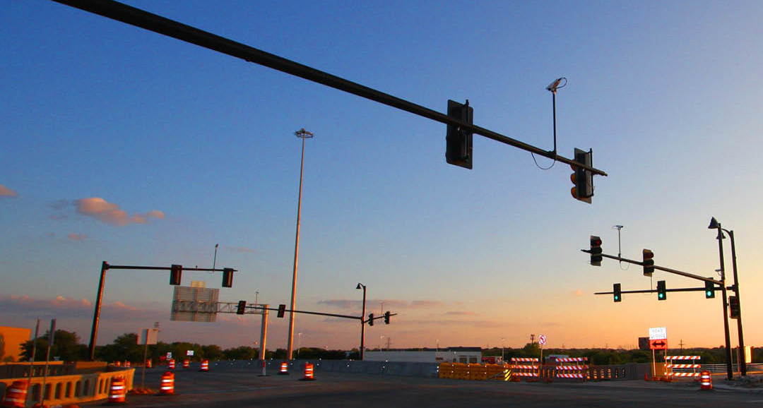 Signal Intersection Traffic Poles Lighting Structures Fixtures